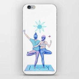 Yogi Love cold colours iPhone Skin