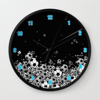 soccer Wall Clocks featuring Soccer by joanfriends