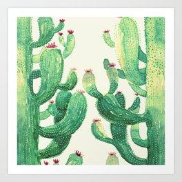 two big cactus Art Print