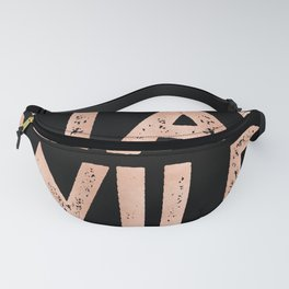STAY WILD Rose Gold on Black Fanny Pack