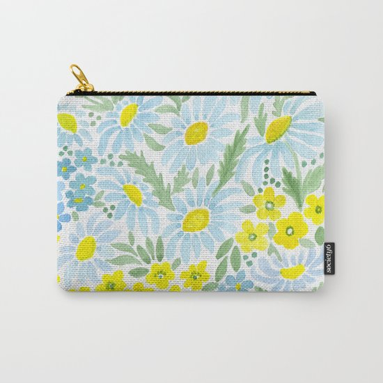 Watercolor . Chamomile field. 1 Carry-All Pouch