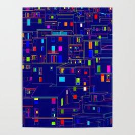 Blue City - Manarola, Italy Poster