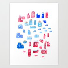 Downtown Art Print