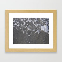 Wave + sand Kits Beach Vancouver Framed Art Print