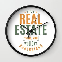 Real Estate Thing Wall Clock