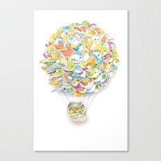 Bird Balloon Canvas Print