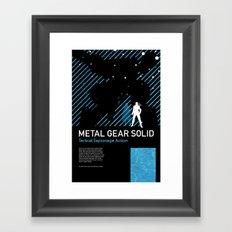 Metal Gear Solid Framed Art Print