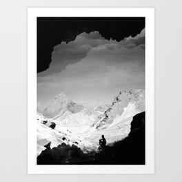Snowy Isolation Art Print