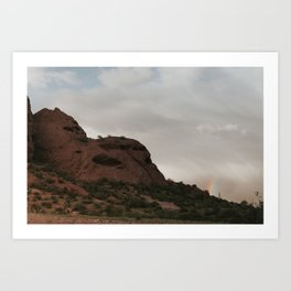 Sunset over Martian Rocks Art Print
