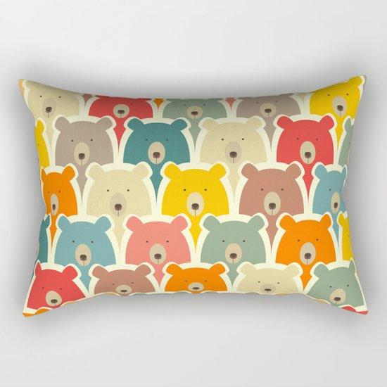 Bears cartoon pattern Rectangular Pillow