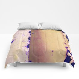 Rusted Tiers Cream and Violet Comforters