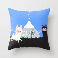Run alpaca, run! Throw Pillow