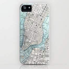 Vintage Map of New York iPhone Case