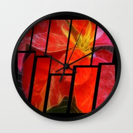 Mottled Red Poinsettia 1 Ephemeral Tinted 2 Wall Clock