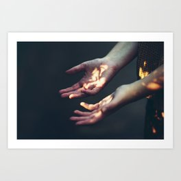 Set on Fire Art Print