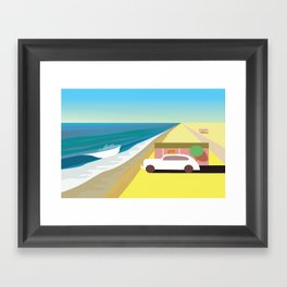 Alone at Bungalow Beach Framed Art Print
