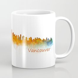 Vancouver Canada City Skyline Hq v02 Coffee Mug