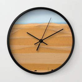 Sand dunes line the coast in Namibia Wall Clock