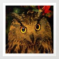 owls Art Prints featuring Owls by Joe Ganech