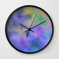 blur Wall Clocks featuring Blur by Christy Leigh