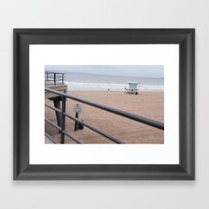 The Rails of Sand Framed Art Print