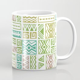 Polynesia Geometric Tapa Cloth - Earth Colors Coffee Mug