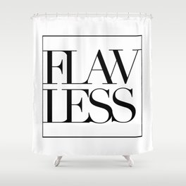 FLAWLESS (MINIMAL) Shower Curtain