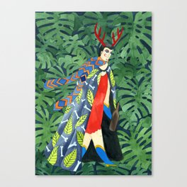 The troubled prince of the greenhouse Canvas Print
