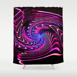 Evolving Projection Shower Curtain