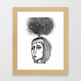 Nightmares that haunt - coracrow Framed Art Print