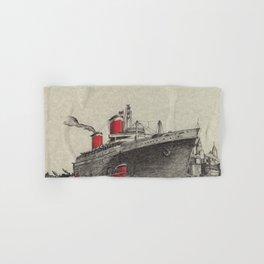 Steam Ship, New York Harbor Hand & Bath Towel
