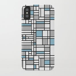 Map Lines Sky Blue iPhone Case