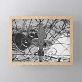 Final Fleur de Lis- horizontal Framed Mini Art Print