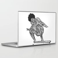 70s Laptop & iPad Skins featuring 70s surfer by terezamc.
