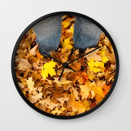 Stand in the Leaves Wall Clock