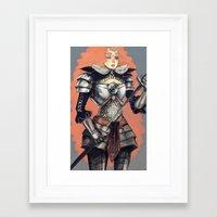 knight Framed Art Prints featuring knight by Jelena Haeschke