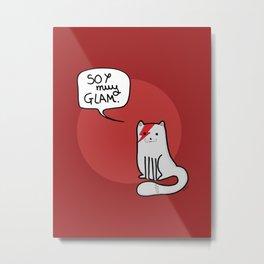 Glam cat (Spanish) Metal Print