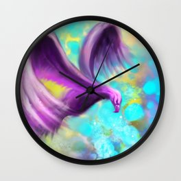 The color of flight Wall Clock