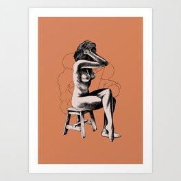 Woman, sketch Art Print