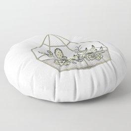 Succulent Terrarium Floor Pillow