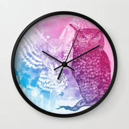 Animal Spirit - Owl Wall Clock