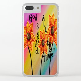 God is Good All the Time Clear iPhone Case