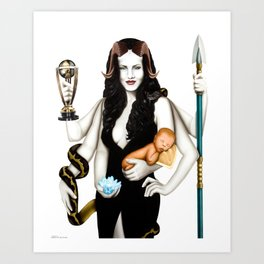 """MOTHER GODDESS     """"The Planet Earth Awards, Beyond Superstition"""" Art Print"""