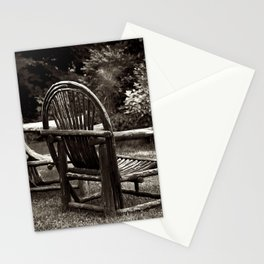 Old Adirondack Cedar Chairs Stationery Cards