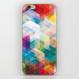 Cuben Curved #3 Geometric Art Print. iPhone Skin