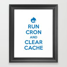 Run Cron and Clear Cache Framed Art Print