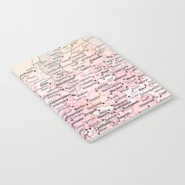 Rose Word Map Europe Notebook