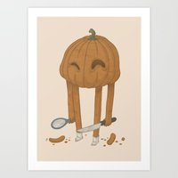 pumpkin Art Prints featuring Pumpkin by Gabor Nemethi