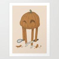 pumpkin Art Prints featuring Pumpkin by Gabor Nemethi
