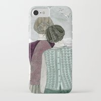planes iPhone & iPod Cases featuring Paper Planes by Yuliya